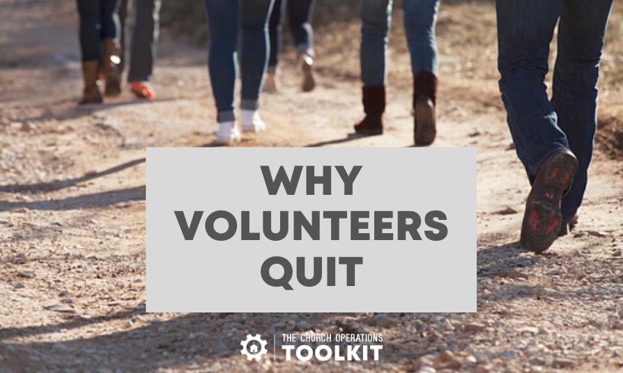 Volunteers quit